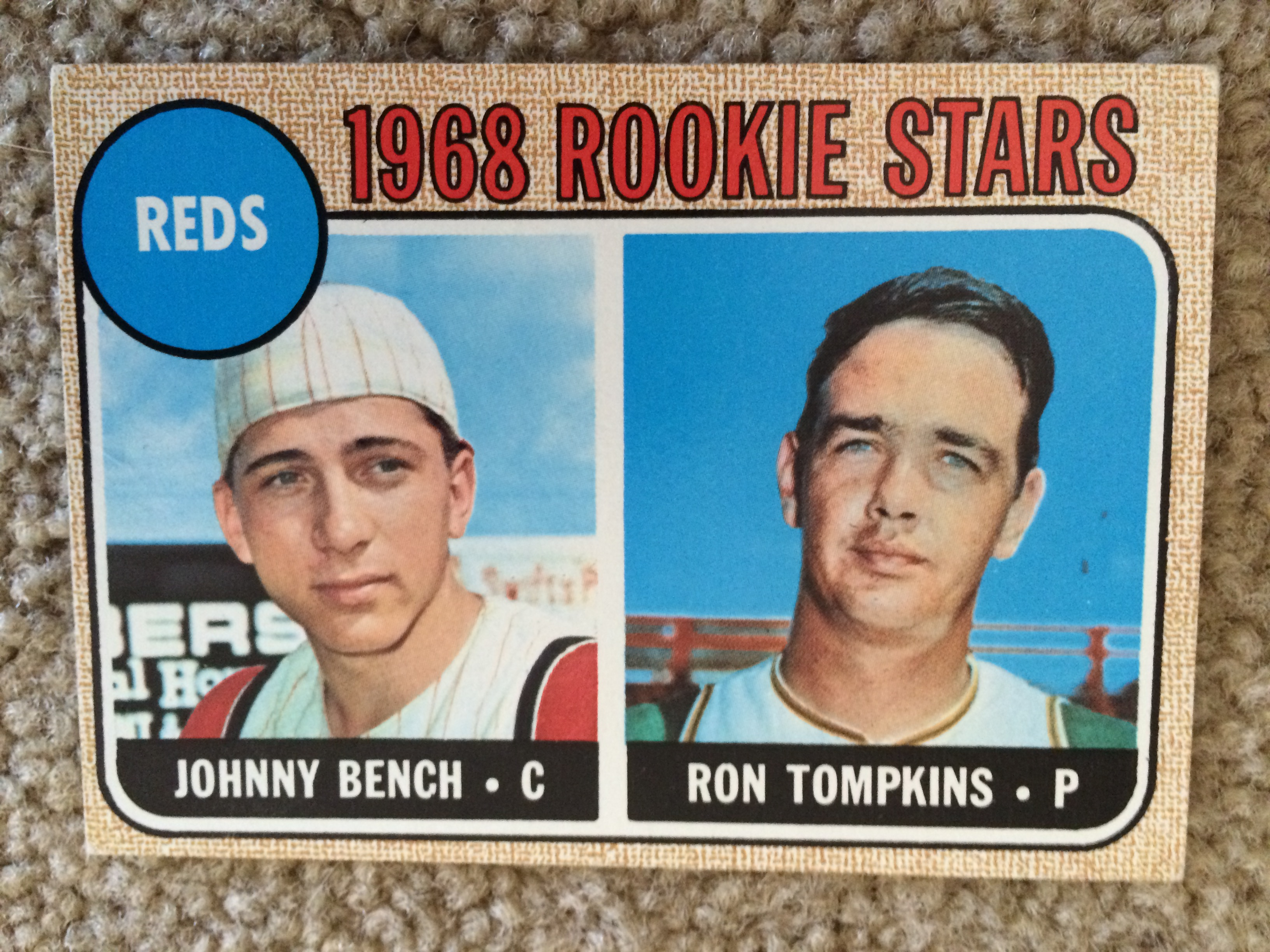 Lot Detail Johnny Bench 1968 Topps Rookie Nm 125 Mint Bv 375