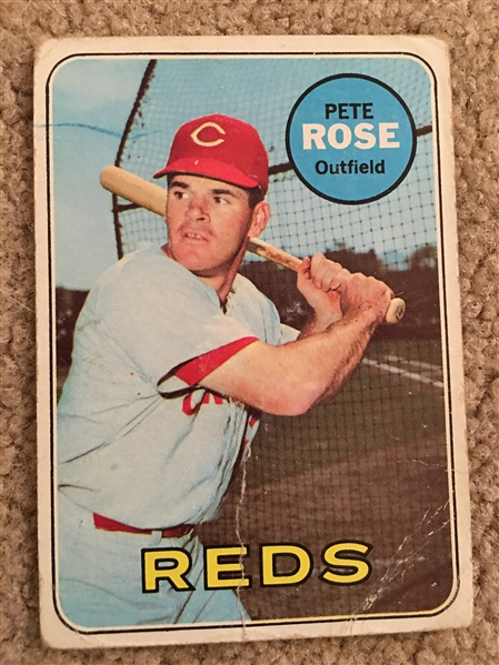 PETE ROSE 1969 TOPPS #120 (Cr) $50 -  $150.00 WoW