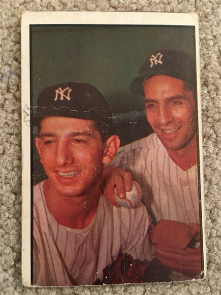 PHIL RIZUTTO and BILLY MARTIN 1953 BOWMAN COLOR #93 BV $300- $900.00