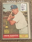 RON SANTO ROOKIE 1961 TOPPS #35 Books $120.00 - $360.00