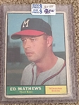 ED MATHEWS 1961 TOPPS #120 Book $30.00- $90.00