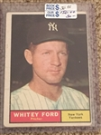 WHITEY FORD 1961 TOPPS #160 Book $50.00- $150.00