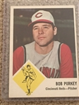 BOB PURKEY RARE 1963 FLEER #35 REDS ..