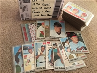 Lot of 1970 TOPPS with 12 HALL of FAMERS and REDS, Nicest Condition of all the Lots