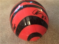 RUDI JOHSON BENGALS SIGNED MINI HELMET with PLAYOFF COA STICKER