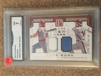 PETE ROSE PANINI DUAL REDS & PHILLIES JERSEY 35/99 Near Mint Slabbed & Graded