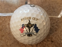 RYDER CUP GOLF BALL in DISPLAY CUBE - VERY COOL.. NEVER SEEN or SOLD ONE BEFORE !!