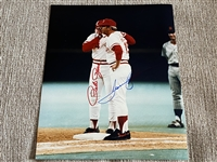 PETE ROSE & TOMMY HELMS Signed HIT RECORD 8x10